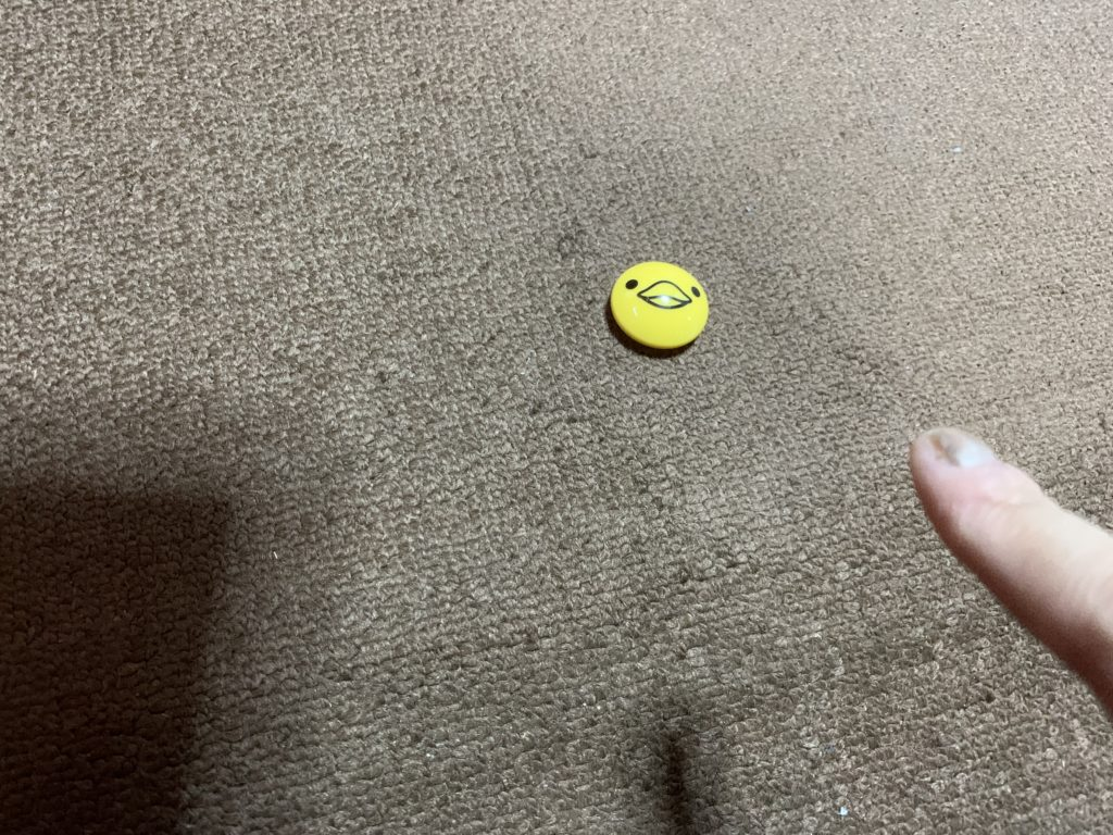 マットの上に置いた磁石